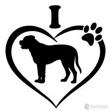 Bull mastiff Dog Vinyl Decal Car Window Laptop Sticker oracal