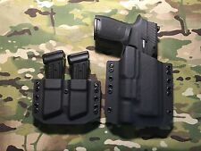 Black Kydex LIght Holster SIG P320 Compact Surefire X300 Ultra A w/ Mag Carrier