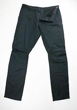 Ann Demeulemeester Mens Black Cotton Linen Pants Trousers Medium 32 x 33 $610