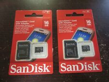 Sandisk microSDHC card with adapter 16gb, 2 Pack, 3 Pack, 4 Pack, 5 Pack, 6 Pack