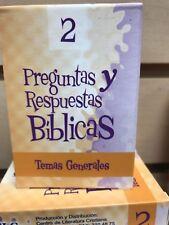barajas biblicas Preguntas Y  Respuestas Bíblicas  bilingues Temas Generales #2