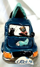 New 2003 Blue Sky Clayworks Country Bears Gone Fishing Catch Me Pickup Truck