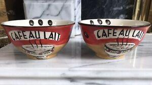 New Cafe Au Lait Coffee Bowl Multicoloured