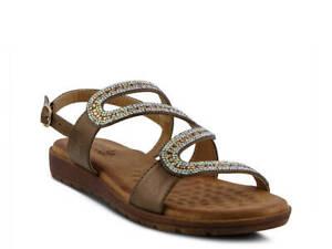 NIB PATRIZIA by SPRING STEP - RORIA - Metallic bronze strap sandal 5.5-6M - EU36