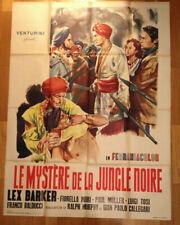 AFFICHE CINEMA film movie Le mystere de jungle noire 120 x 160 Lex Barker