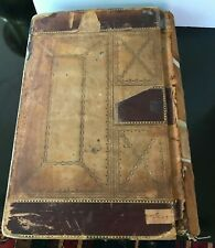 Antique 1901 Leather Bound Ledger Stoll & Thayer Co Blank Pages
