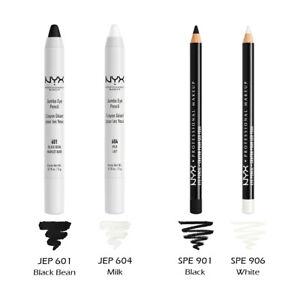 "NYX ""2 Jumbo & 2 Slim"" Pencil Combo set "" Black & White "" Joy's cosmetics"