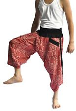 Thai fisherman pants, Yoga Harem pants cotton,circle design,Thai pants, wide leg