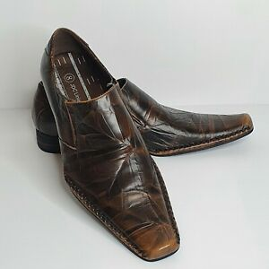 JDC Linia Uomo Mens Dress Shoes Brown Leather Size 8 NIB