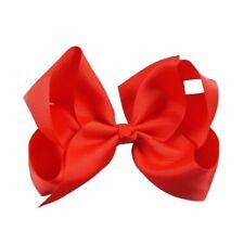 Red hair bow clip school colour hair accessories