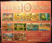 New 10 Puzzles Around the World 5600 pieces each 300 to 1000 pc  Artists for 12+