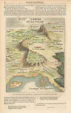 1859 Fontanelle Fantasy Map of the Empire of Poetry