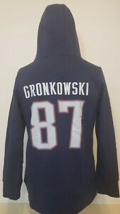 Patriots NFL Pro Line Fanatics Super Navy Blue Pullover Hoodie Youth Large