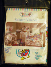 NEW Disney Babies Best Friends Balloon Valance Curtains Mickey Minnie Donald VTG