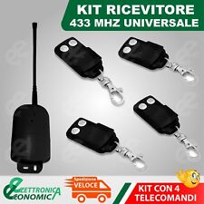 KIT RICEVENTE UNIVERSALE 433 MHZ  JOLLY OPEN + 4 TELECOMANDI NEW G 2017