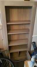 Contemporary Pine Book Case. Three Shelves / two cupbords