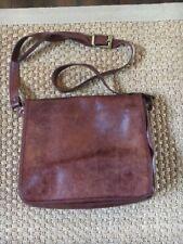 Pitti Brown Italian Leather Satchel Bag