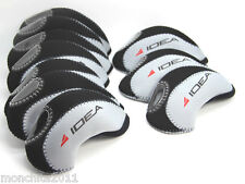 US! ADAMS Golf IDEA Iron Head Covers 10pcs Set  BLACK/GREY Color Headcover Club
