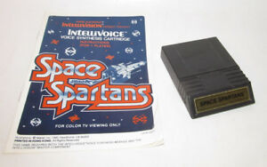 Space Spartans (Intellivision, 1982) w/ Instruction Manual Booklet Very Good