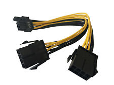 """9"""" 8(6+2-Pin) PCIe Male to Dual 8-Pin PCIe Female Splitter Power Cable Adapter"""