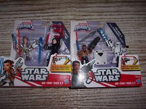 Star Wars Galactic Heroes 2 SETS REY & KYLO - FINN & STORMTROOPER