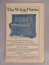 Wing Piano PRINT AD - 1896 ~~ Wing & Son