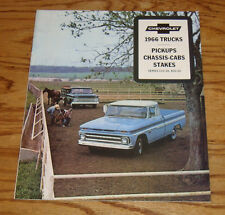 1966 Chevrolet Truck Pickup Chassis-Cab Stake Sales Brochure 66 Chevy