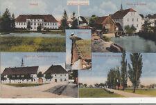 Ak Königswartha Sachsen, Schloss, Wassermühle, Markt, Storchnest Bahnpost #127