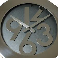 Elegante Designer Edelstahl Wanduhr Wand Uhr Küchenuhr Bürouhr *SCHLEUDERPREIS*