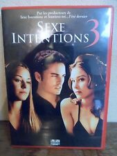 DVD - SEXE INTENTIONS 3 - Français/Anglais/Italien/Espagnol - Etat Excellent