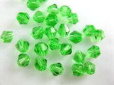 Bulk 30pcs Grass Green Glass Crystal Faceted Bicone Beads 8mm Spacer Findings