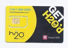 USA H2O Wireless 2 in 1 sim card              At&t nationwide network