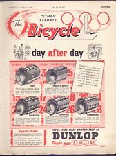 Vintage 32 page The Bicycle,Olympic Reports,Helsinki Vol 34 No 857 1952  (YT1)
