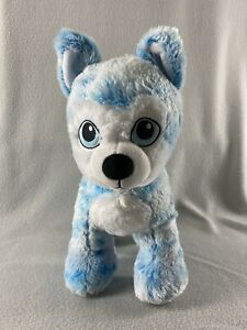 "Build A Bear Blue Blast Husky Plush Dog 14"" Tall Standing Stuffed Animal 2019"