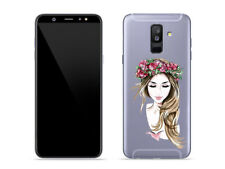 Samsung Galaxy A6 Plus 2018 - Hülle Crystal Design Cover Tasche - Pastell-Porträ