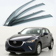 For Mazda CX-3 2016-2019 4PCS Window Visor Vent Sun Shade Rain Guard Door Visor
