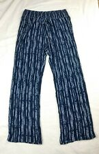 Style & Co Womens Pull Up Wide Leg Lounge Yoga Pants Blue White Stripes Size S