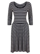 Polyester Plus Size Striped Casual Dresses for Women