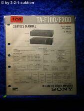 Sony Service Manual ta f100/f200 amplifier (#1259)
