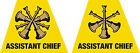 """Firefighter Helmet Decal -- Set of 2 Assistant Chief Reflective Trapezoid 1.75"""""""