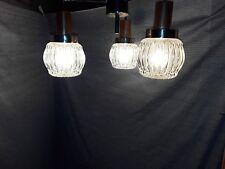 alte Kaskaden Deckenlampe 50er60er Jahre Sputnik 50s60s Teak Eisglas chrome lamp