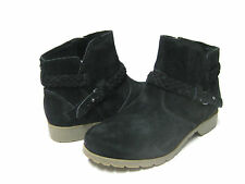 Teva De La Vina Ankle Women Boots Black Suede US 11 /UK9/EU42