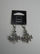 Sno of Sweden Carla Vintage Pendant Earrings .925 Silver 377-7800001 New w/ Tag