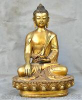 "18 ""Statue de Bouddha Shakyamuni Amitabha Sakyamuni en Chine, cuivre et or"
