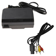 COMBO AC Power Adapter Cord + Audio Video AV Cable for Nintendo 64 System New