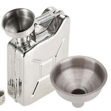 Top Selling 2Pcs Mini Metal Funnel Silver Hip Flasks Oils Perfumes Bottles Cones