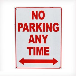NOTICE SIGN NO PARKING ANY TIME PROPERTY 200x300mm Metal WARNING