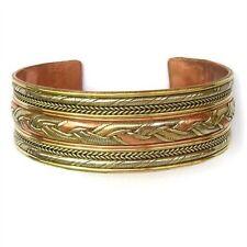 Multi Strands Weaving Cuff Bracelet Huge Tibet 3-Color Copper Delicately Braided