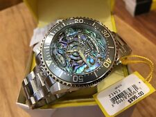 23453 Invicta Grand Diver Automatic 47mm Men's SS Abalone Dial Bracelet Watch