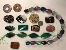 Lot Of Semi Precious Stone Large Beads, Focal